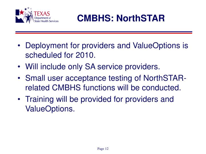 CMBHS: NorthSTAR