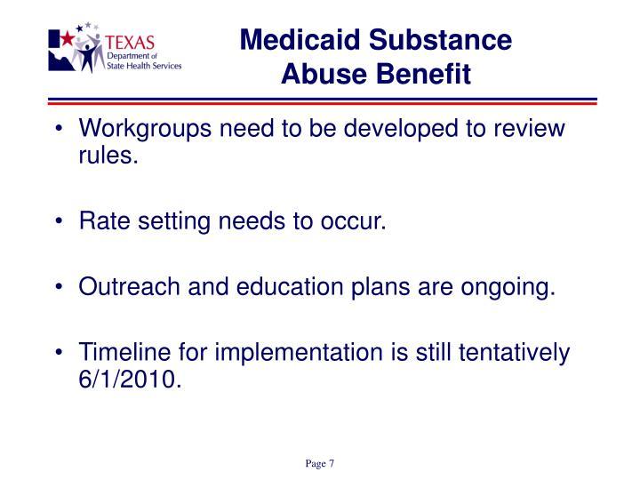 Medicaid Substance