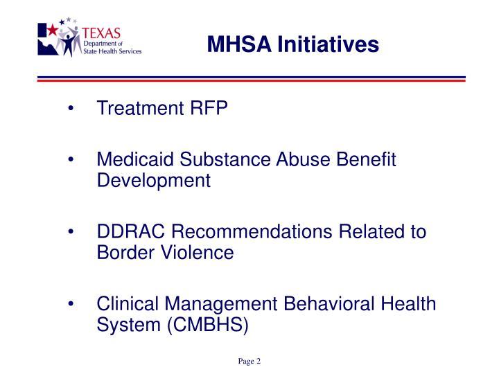 MHSA Initiatives