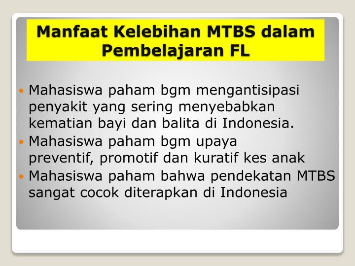 Mahasiswa paham bgm mengantisipasi penyakit yang sering menyebabkan kematian bayi dan balita di Indonesia.