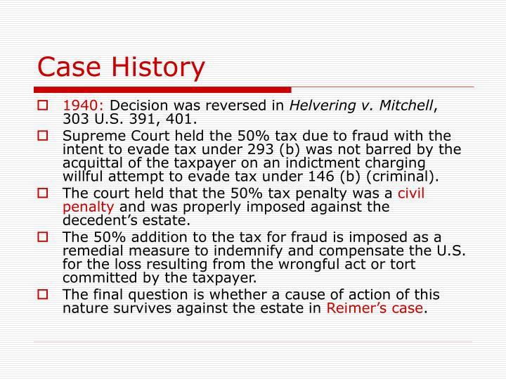 Case History