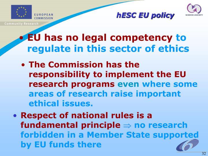 hESC EU policy