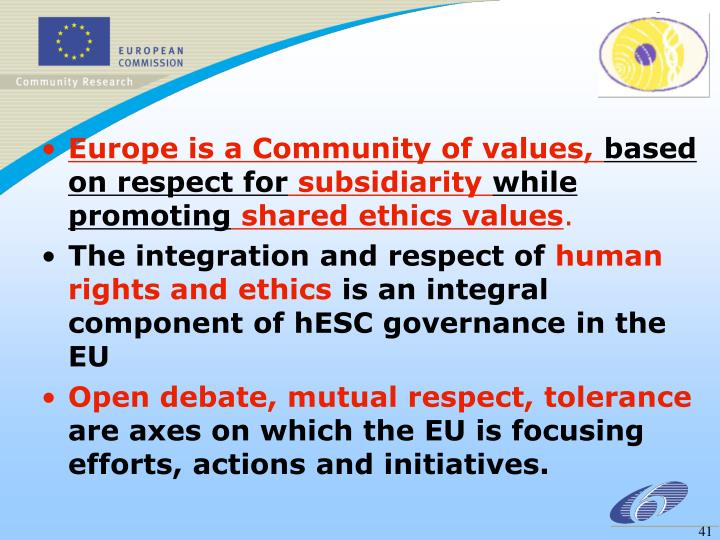 Europe is a Community of values,