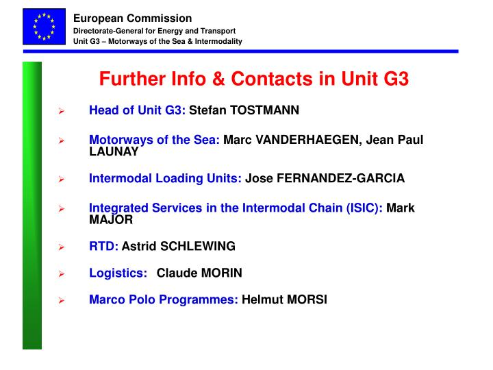 Further Info & Contacts