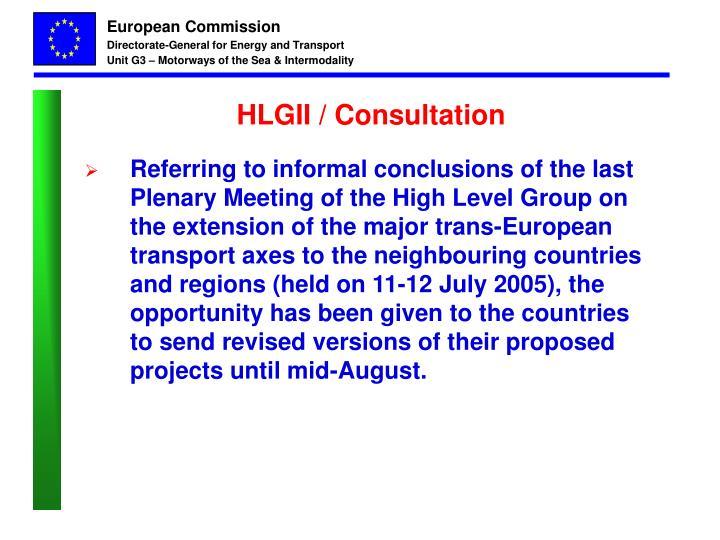 HLGII / Consultation