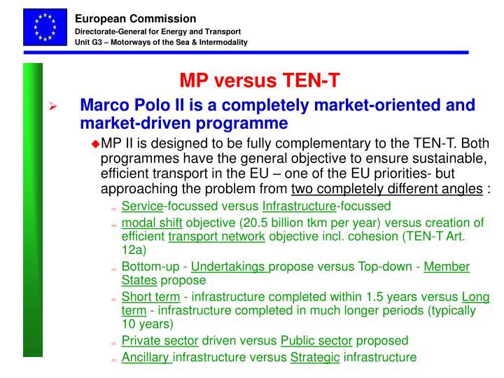 MP versus TEN-T