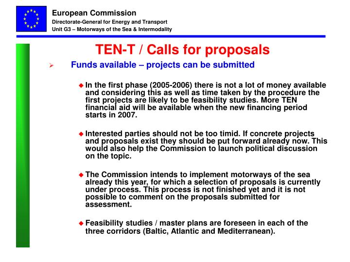TEN-T / Calls for proposals