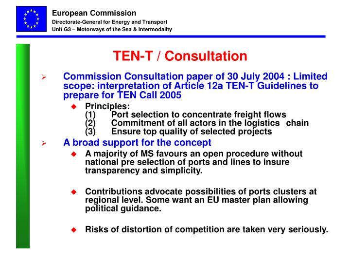 TEN-T / Consultation