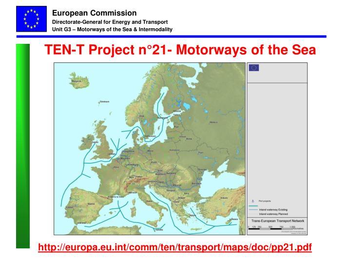 TEN-T Project n°21- Motorways of the Sea