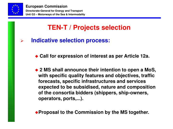 TEN-T / Projects selection