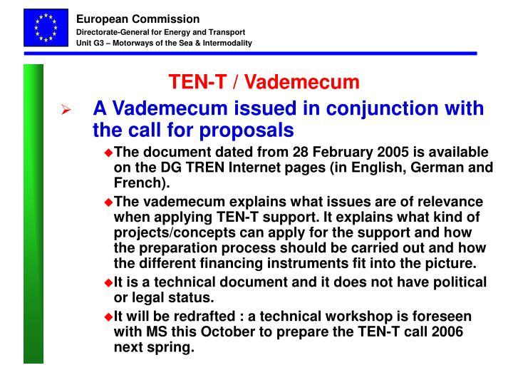 TEN-T / Vademecum