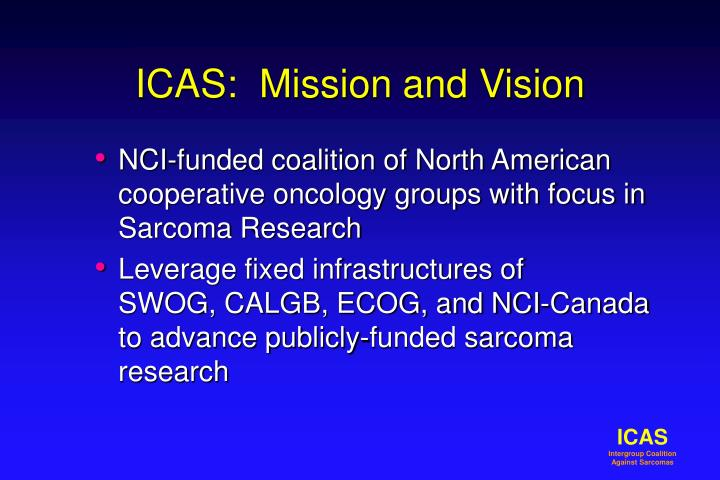 Icas mission and vision