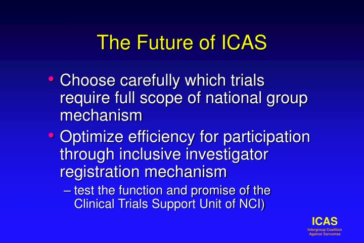 The Future of ICAS