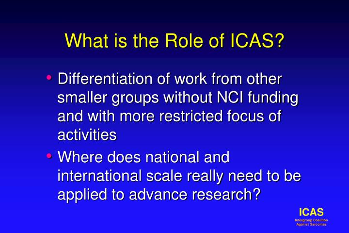 What is the role of icas