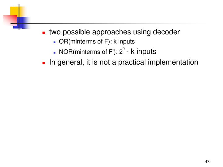 two possible approaches using decoder