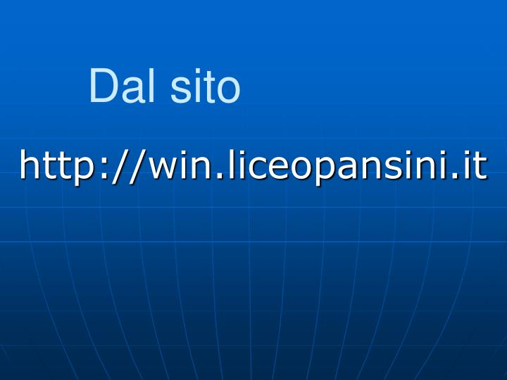 Http win liceopansini it