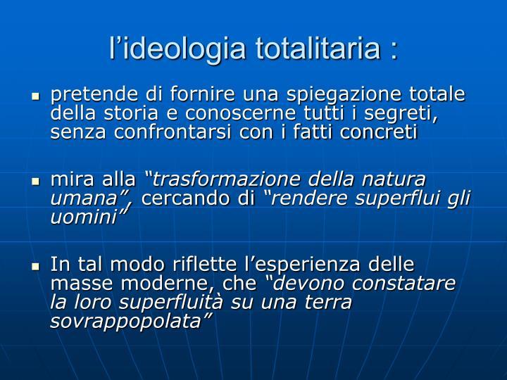 l'ideologia totalitaria :