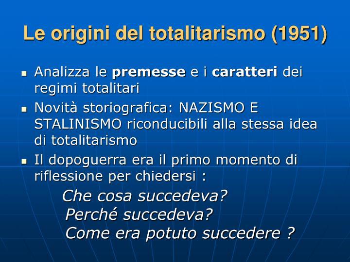 Le origini del totalitarismo (1951)