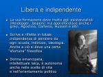 libera e indipendente