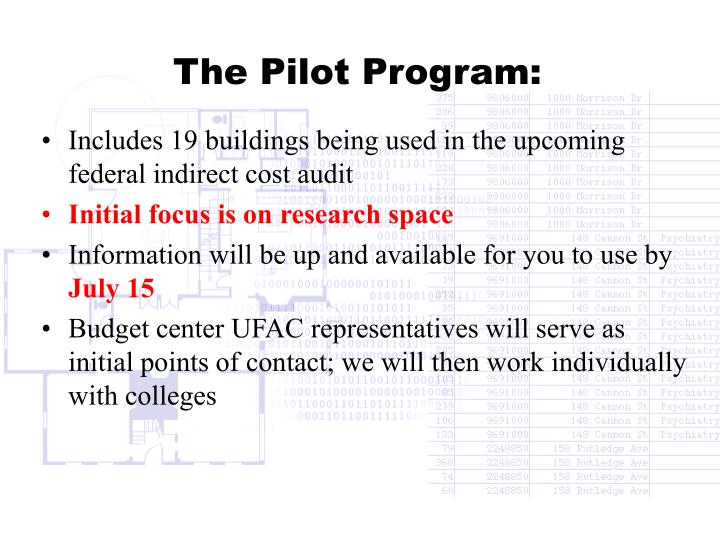 The Pilot Program: