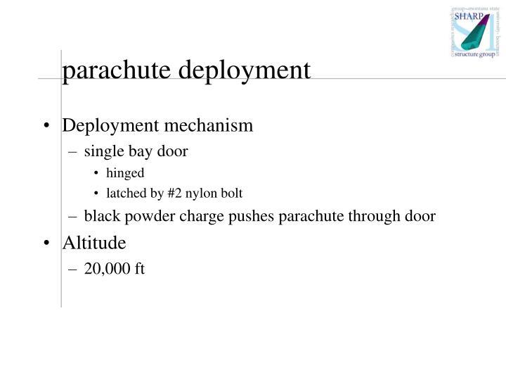 parachute deployment