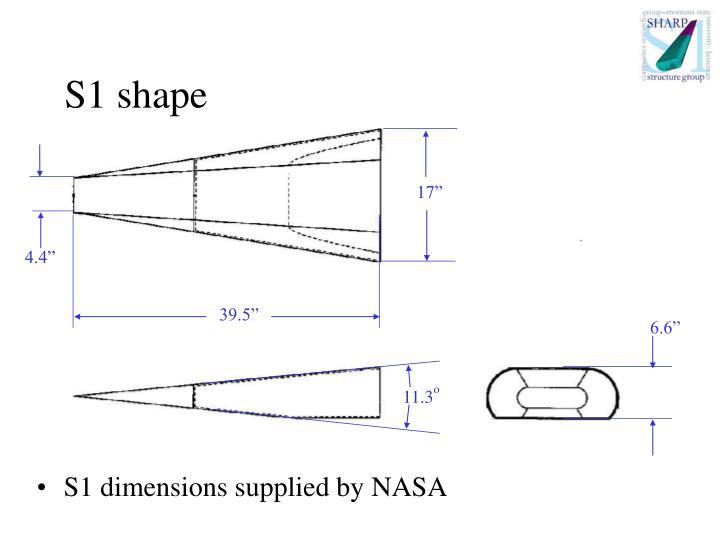 S1 shape