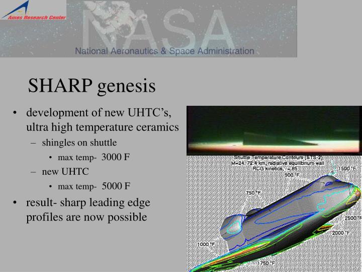 SHARP genesis