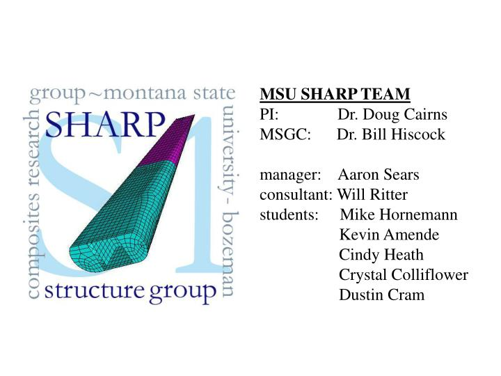 MSU SHARP TEAM