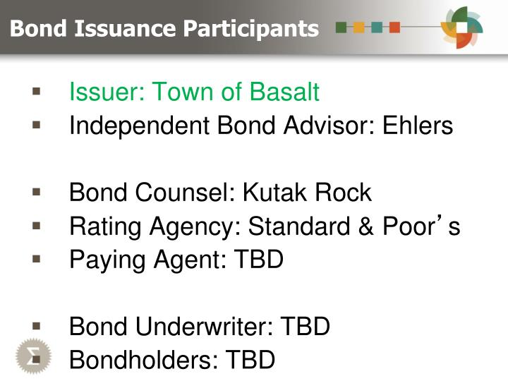 Bond Issuance Participants