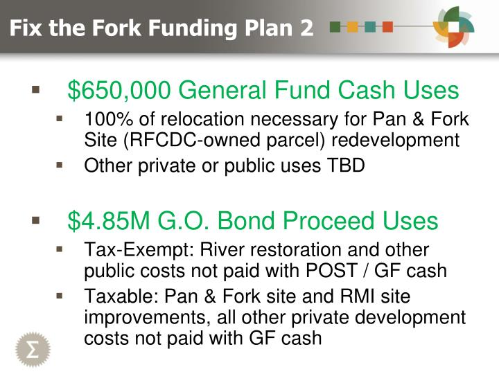 Fix the Fork Funding Plan 2
