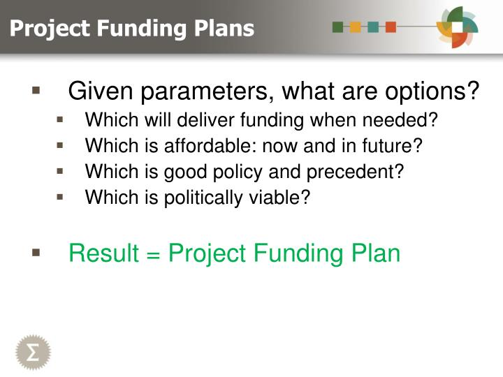 Project Funding Plans