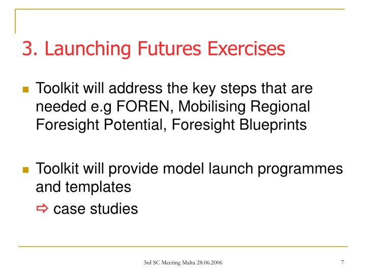 3. Launching Futures Exercises