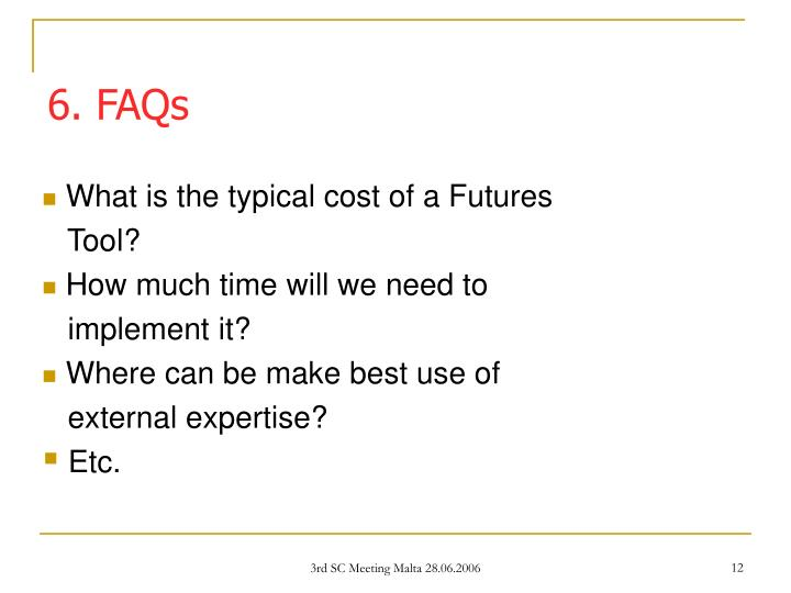 What is the typical cost of a Futures