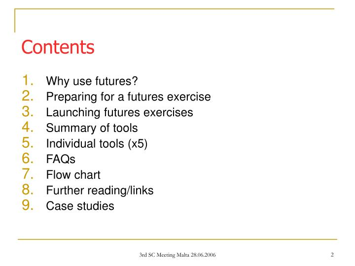Why use futures?