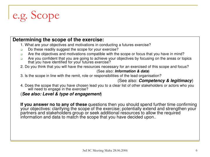 e.g. Scope