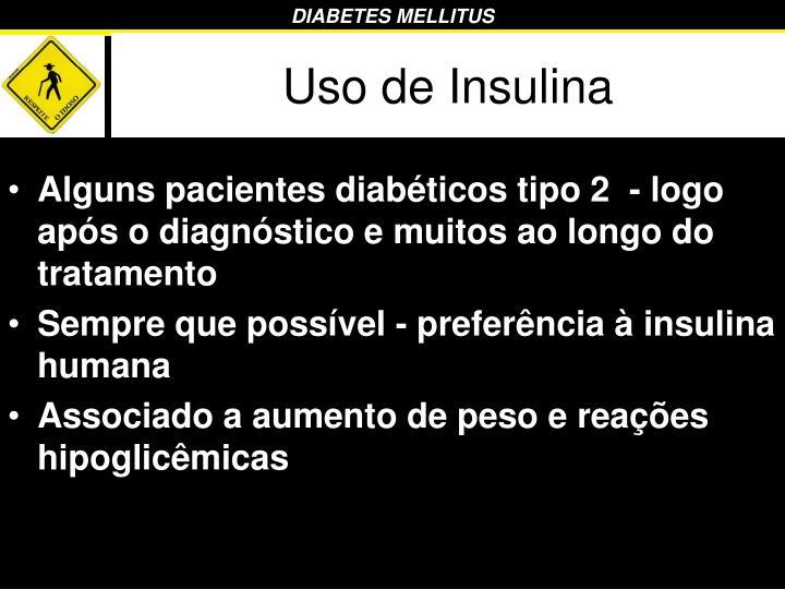 Uso de Insulina
