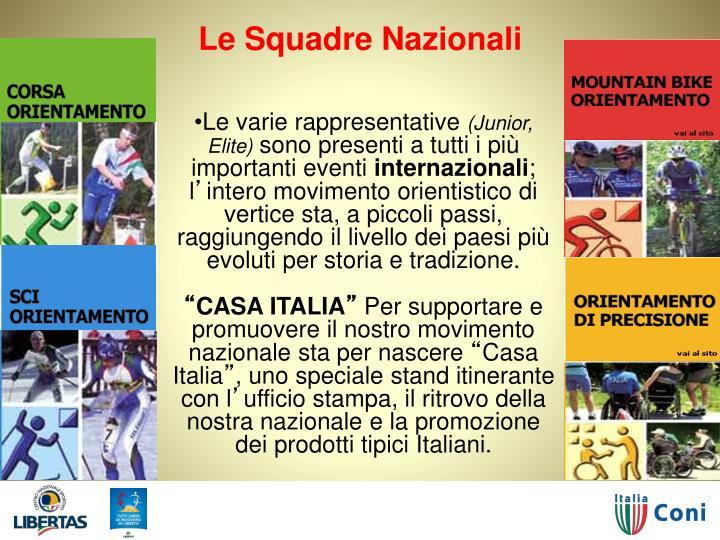 Le Squadre Nazionali