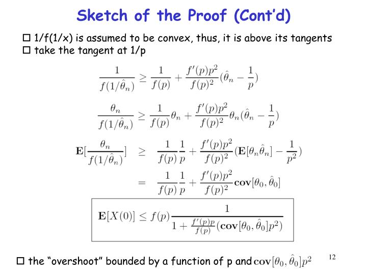 Sketch of the Proof (Cont'd)