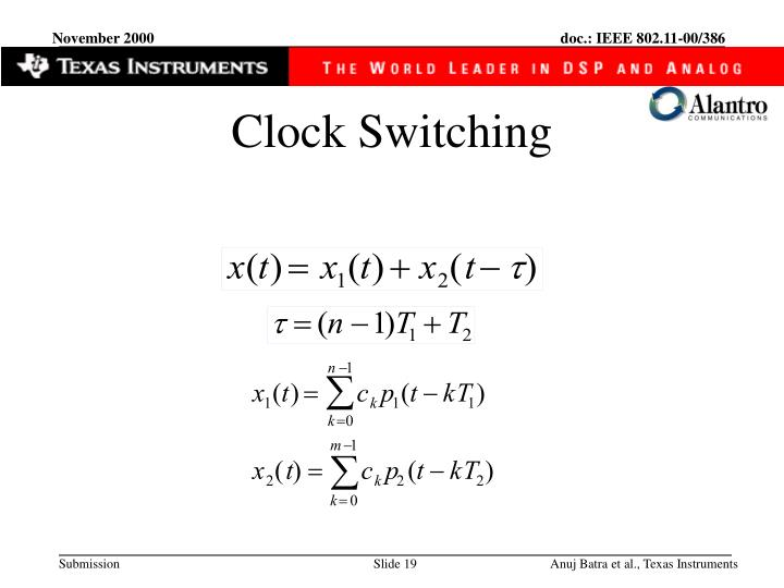 Clock Switching