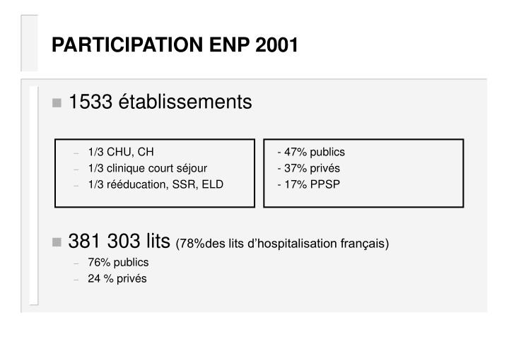 PARTICIPATION ENP 2001