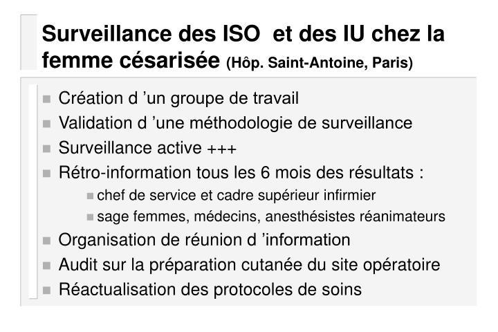 Surveillance des ISO  et des IU chez la femme césarisée