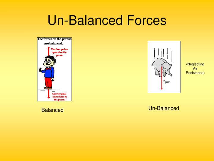 Un-Balanced Forces