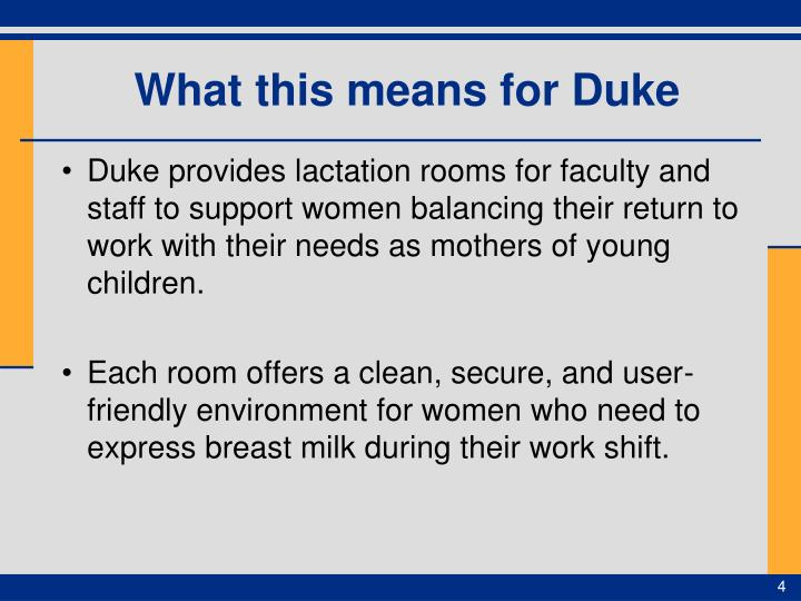 What this means for Duke