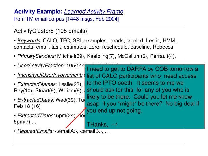 Activity Example:
