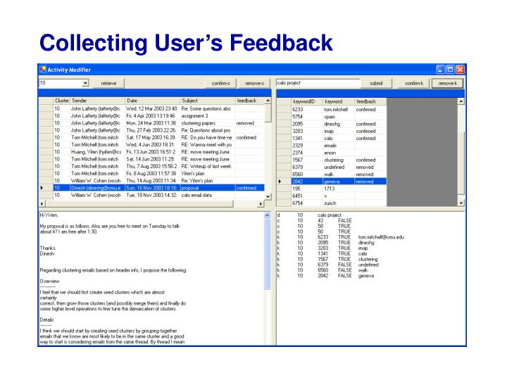 Collecting User's Feedback