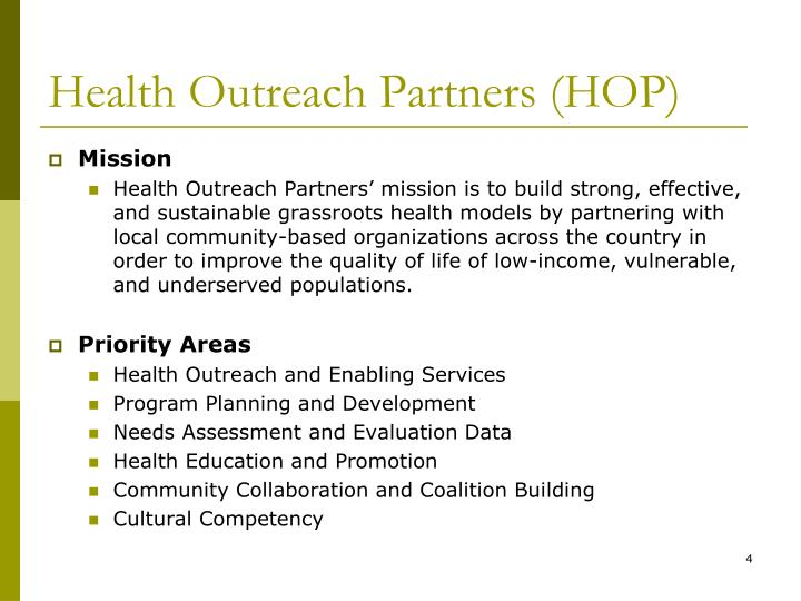 Health Outreach Partners (HOP)