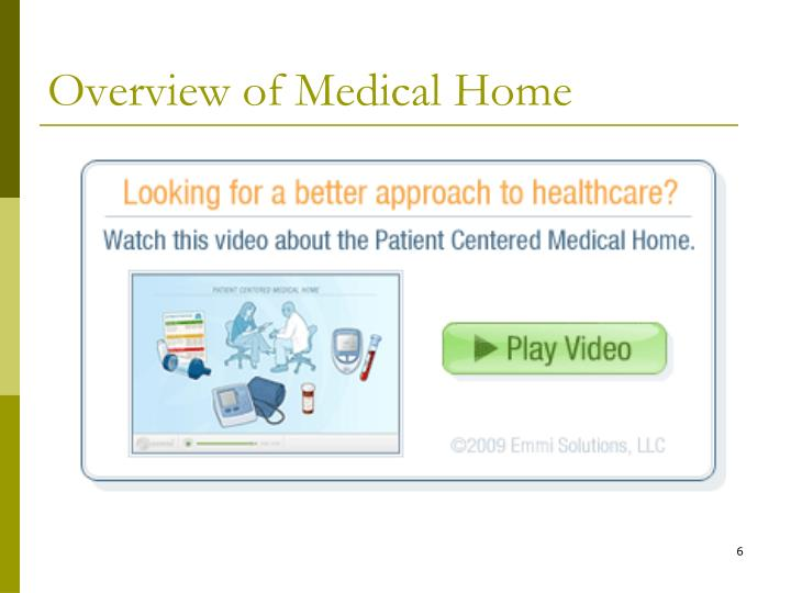 Overview of Medical Home