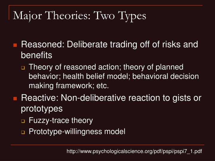 Major Theories: Two Types