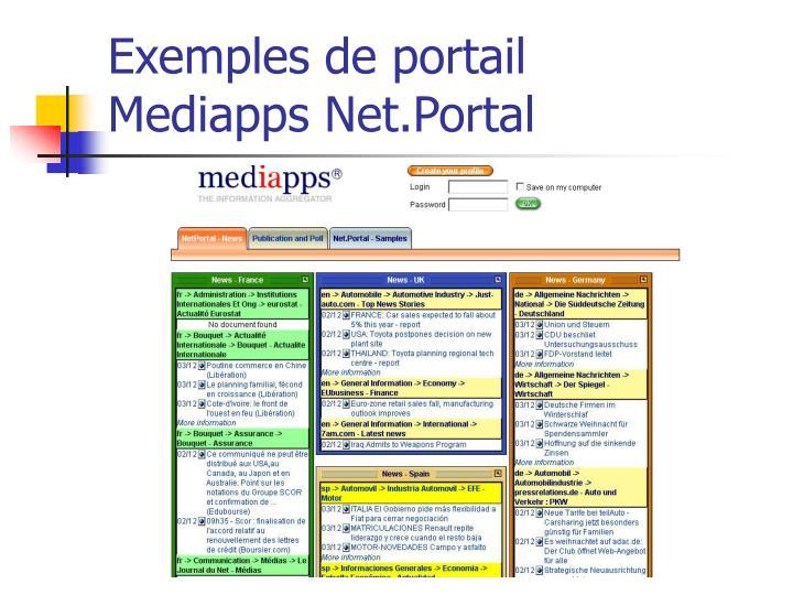 Exemples de portail