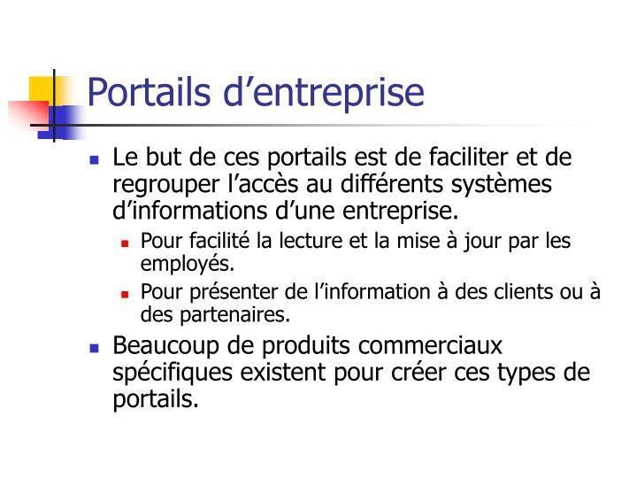 Portails d'entreprise